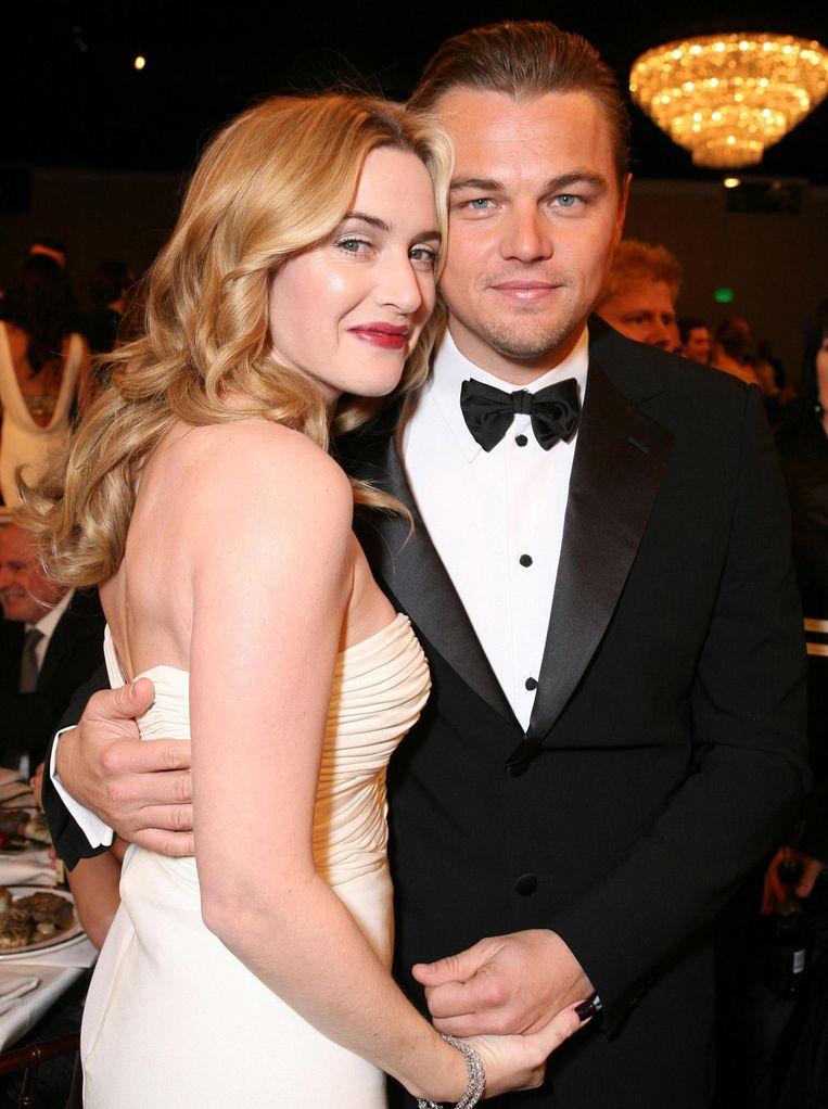Kate Winslet en Leonardo DiCaprio in 2007. Beeld WireImage