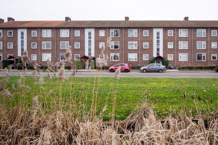 Een van de flats in de wijk Kerkelanden die wordt gesloopt.