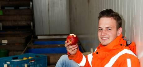 Herman de Vree zet in Dodewaard een drone in om zijn fruitbomen in de gaten te houden