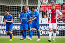 Matthijs de Ligt tijdens PSV A1 - Ajax A1 op 2 mei 2015.