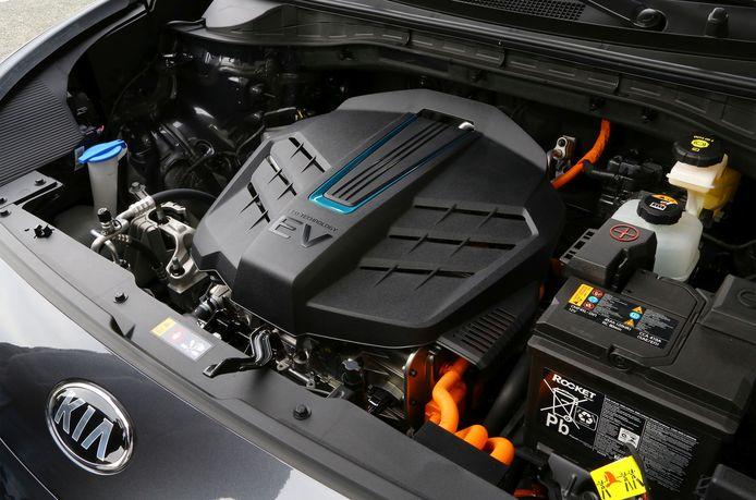 De elektromotor van de Kia e-Niro.