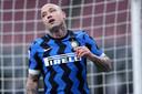 Radja Nainggolan in het shirt van Inter.