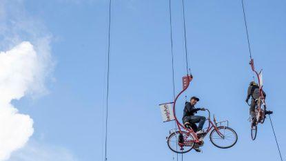 Niels Albert en Bert Longin wagen zich op Sky Bikes