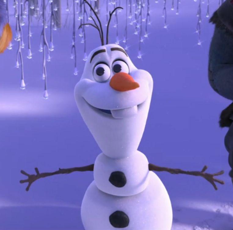 De sneeuwman Olaf in 'Frozen'. Beeld Disney