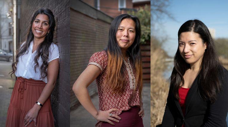 Varsha, Jade en Selina. Beeld Patrick Post/Bram Petraeus