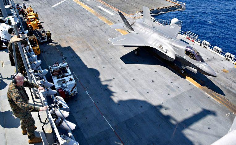 Een F-35-gevechtsvliegtuig.  Beeld Photo News