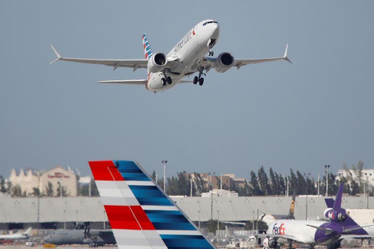 Eind vorig jaar steeg er voor het eerst in bijna twee jaar weer een Boeing 737 MAX op in de VS. Beeld REUTERS