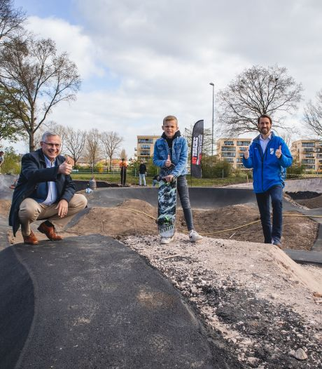 Aanleg van pumptrack in Rheden is begonnen