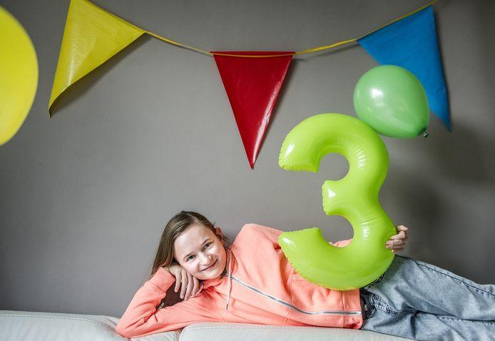 Myrthe van der Smissen uit Etten-Leur wordt maandag 12 jaar.