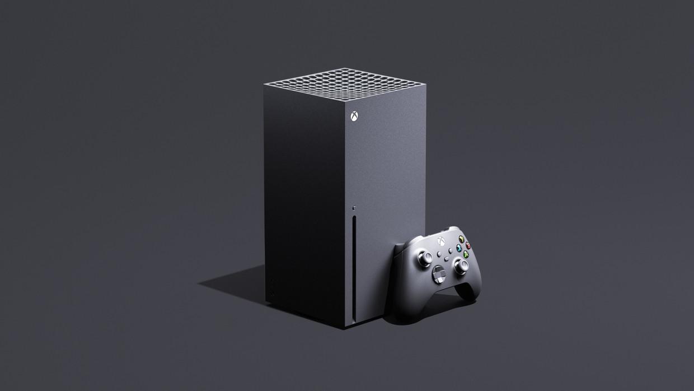 De Xbox Series X is een onopvallend zwart zuiltje, dat ook op zijn zij kan worden gelegd. Beeld Microsoft