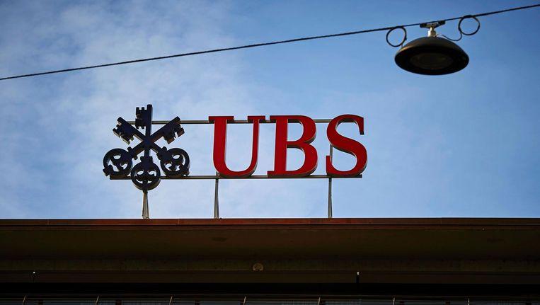 Een filiaal van UBS in Zürich. Beeld afp