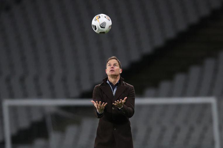 Frank de Boer had zelf geen twijfels over zijn opstelling tegen Turkije.  Beeld AFP