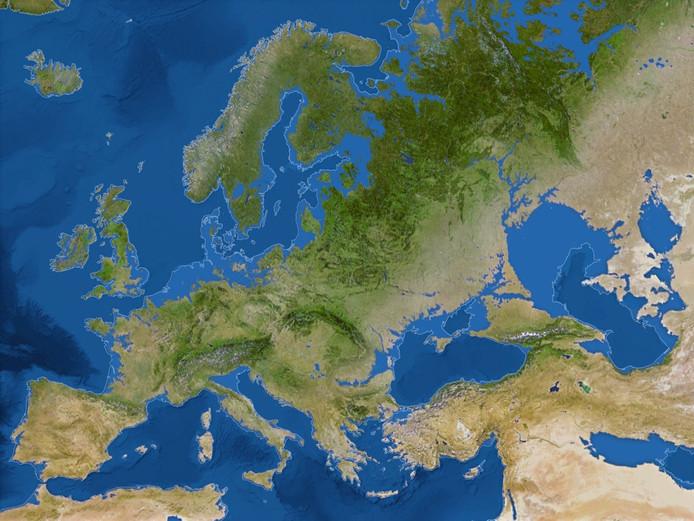 Vrijwel heel Nederland wordt weggevaagd als de zeespiegel met 58 meter stijgt.