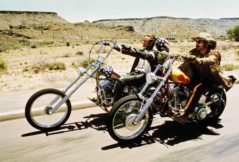 Dennis Hopper en Peter Fonda in 'Easy Rider'. Beeld REPORTERS