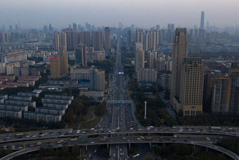 Uitzicht over Wuhan, in China.  Beeld Getty Images