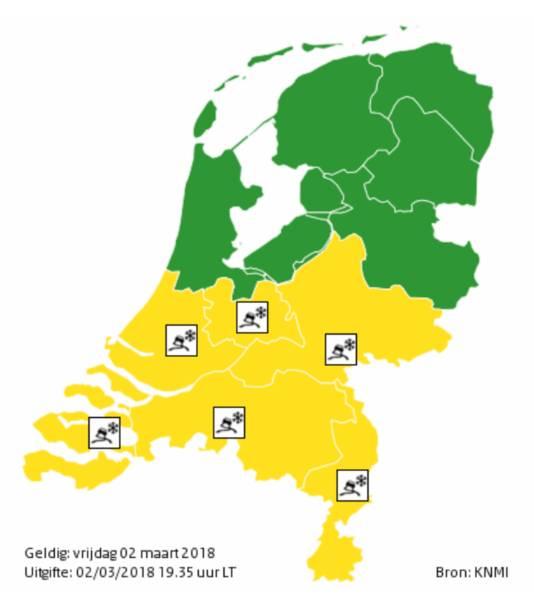 De provincies met code geel.