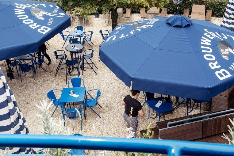 Het Blauwe Theehuis. Beeld Jakob van Vliet
