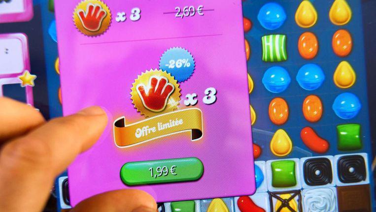 Een screenshot van Candy Crush. Beeld afp