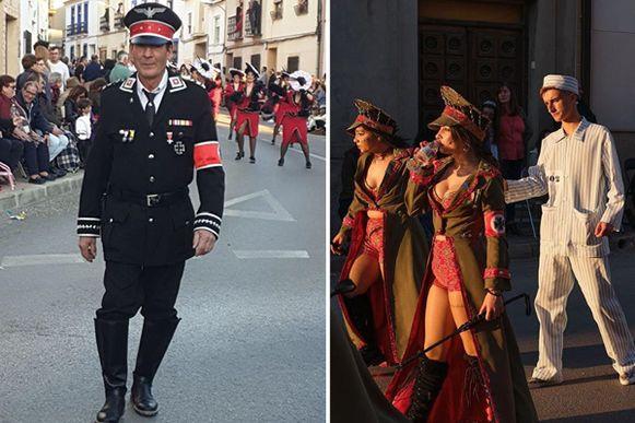 Een Spaanse carnavalsstoet is onder vuur komen liggen omdat sommige deelnemers aan de optocht nazi-uniformen hadden aangetrokken, terwijl andere deelnemers zich verkleed hadden als gevangenen van een concentratiekamp.