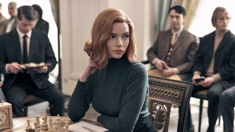 Anya Taylor-Joy als 'The Queen's Gambit'.  Beeld