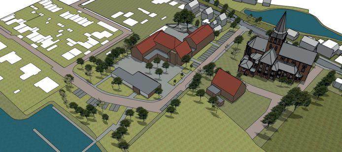 Scenario 2: behoud gezondheidscentrum, uitbreiding multifunctionele ruimte.