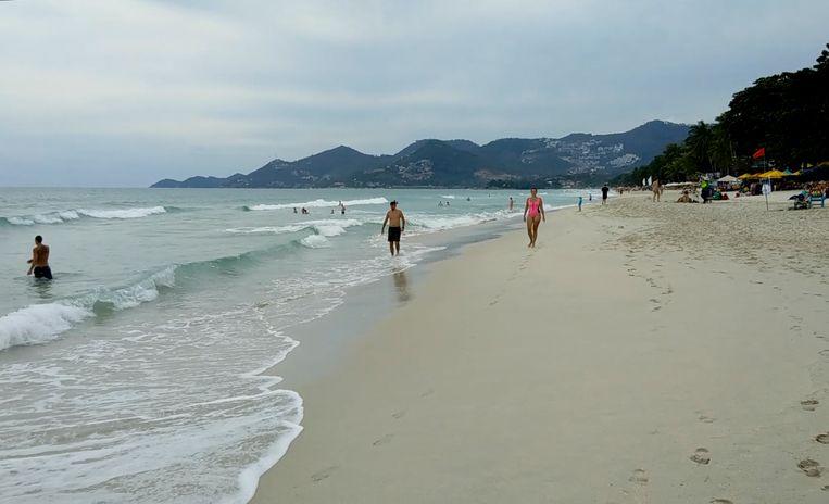 Een populair strand op het eiland Koh Samui.
