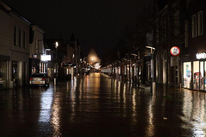 Een leeg centrum in Waalwijk.