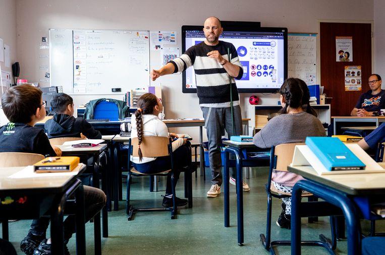 Een basisschoolklas in Den Haag.  Beeld ANP