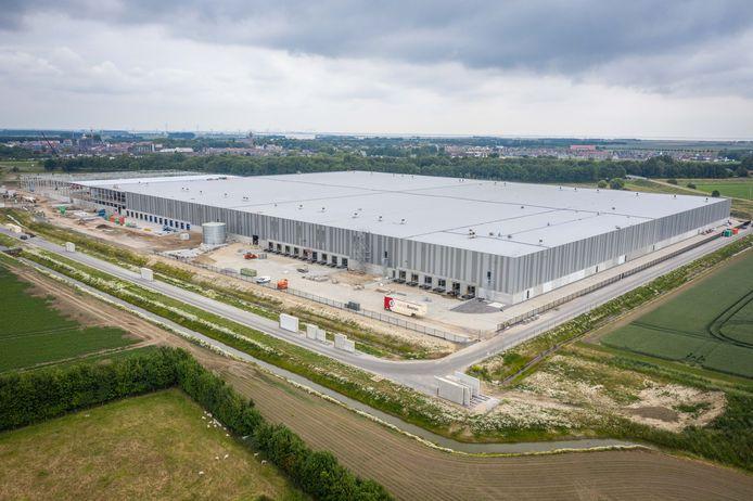Het logistieke centrum van DSV op bedrijventerrein Welgelegen, ten tijde van de aanbouw.