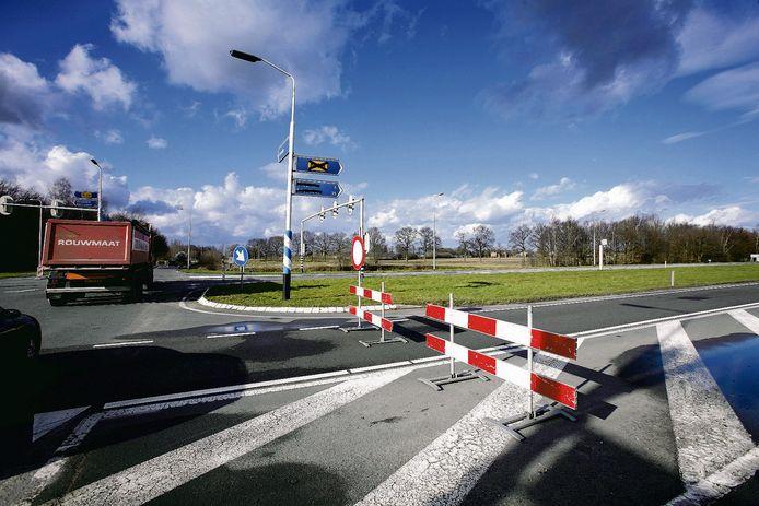 De N18 nabij Lievelde tijdens eerdere werkzaamheden.