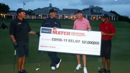 Tiger Woods en co golfen 20 miljoen dollar bij elkaar voor goede doel
