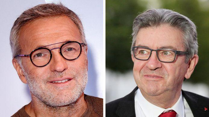 Laurent Ruquier et Jean-Luc Mélenchon