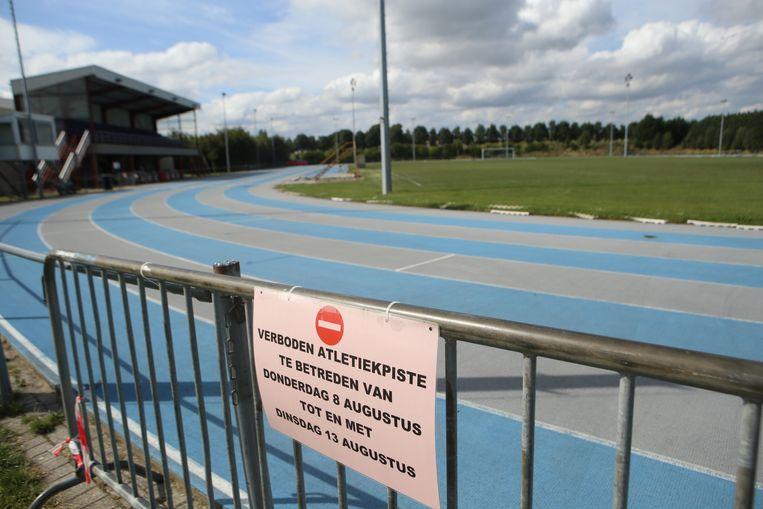 TIENEN-de atletiekpiste is tijdelijk gesloten voor onderhoudswerken