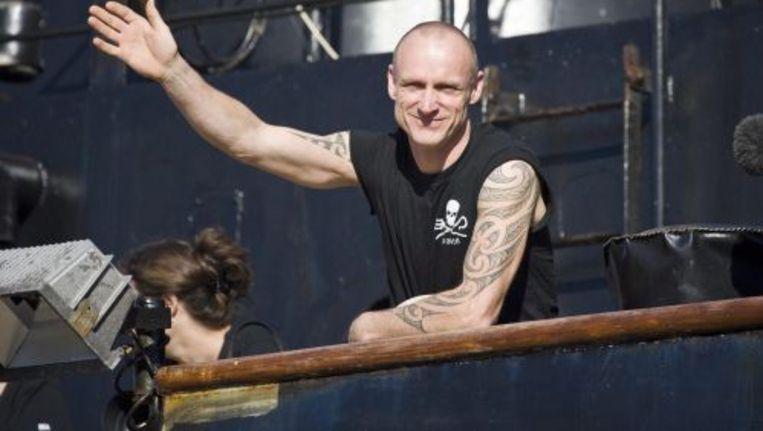 De Nieuw-Zeelandse activist Pete Bethune. ANP Beeld