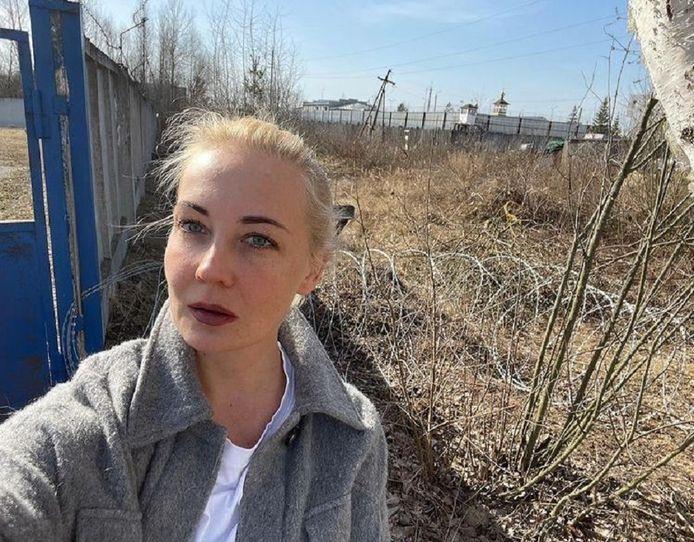 Julia Nalavny bij strafkolonie 2 in Pokrov, zo'n 100 kilometer ten oosten van Moskou.