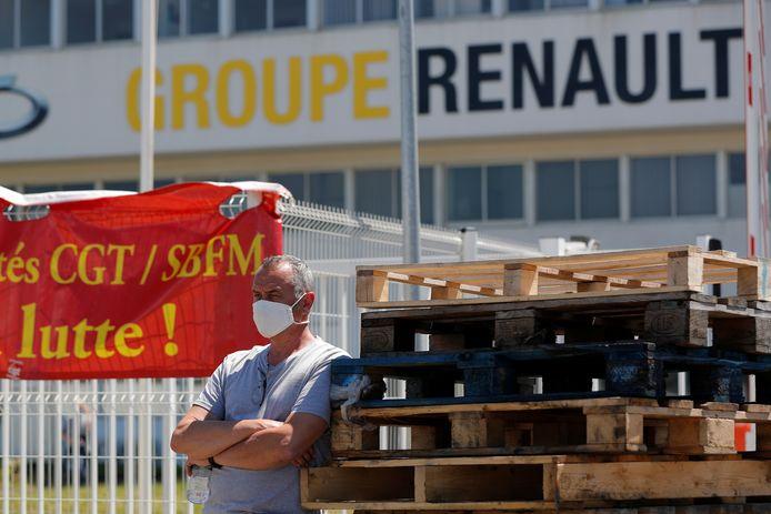 Protest tegen een mogelijke fabriekssluiting bij Renault, eerder deze week