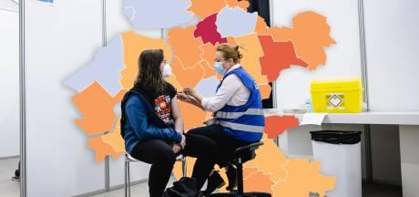 KAART | Aantal besmettingen stijgt, maar in één gemeente zijn de coronaproblemen echt hardnekkig