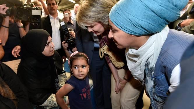 Koningin Mathilde bezoekt vluchtelingenkamp in Jordanië