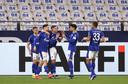 Schalke 04 viert het doelpunt van Suat Serdar, dat voldoende bleek voor de drie punten.