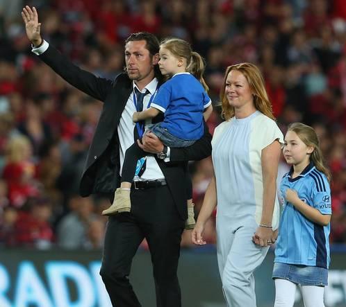 Pascal Bosschaart bij zijn afscheid van Sydney FC.