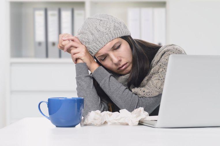 Zelfstandigen hoeven binnenkort niet door te werken wanneer ze eigenlijk ziek zijn uit angst voor inkomstenverlies. Beeld Thinkstock