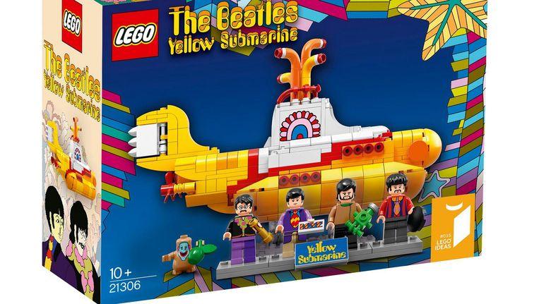 De gele duikboot van Lego Beeld Lego