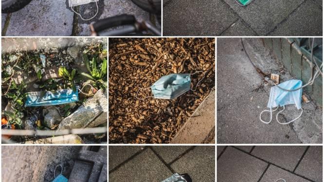 Rondslingerende mondmaskers doorheen de stad: onze fotograaf brengt het nieuwe zwerfvuil in beeld