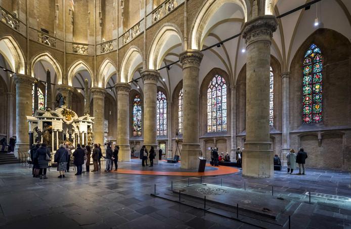 Interieur van de Nieuwe Kerk van Delft.