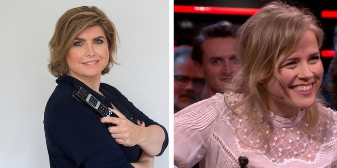 Angela de Jong (links) vond dat Ilse zich goed staande hield in het ongemakkelijke gesprek met Hugo Borst in De Wereld Draait Door.