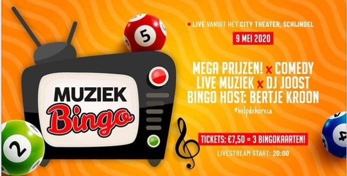 Het City Theater en De Beurs in Schijndel houden zaterdag een Muziekbingo.