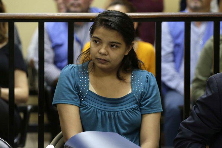 Imelda Cortez in de rechtszaal.  Beeld Rodrigo Sura / EPA
