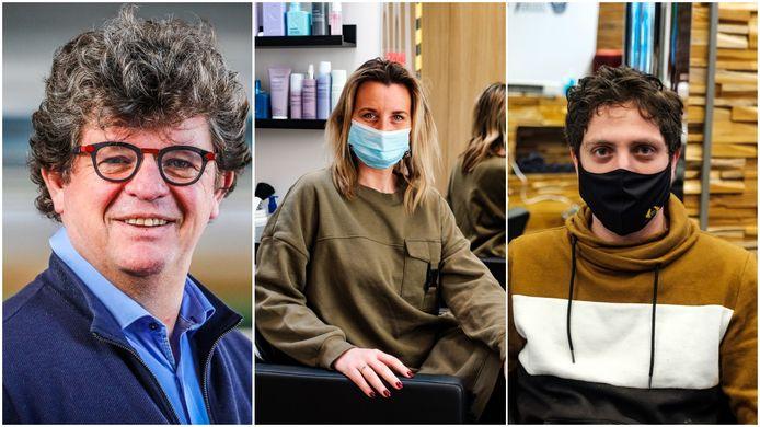 Bart Tommelein, Caroline Heirwegh en Khaled Seikh namen als een van de eersten plaats in de kappersstoel zaterdagochtend.