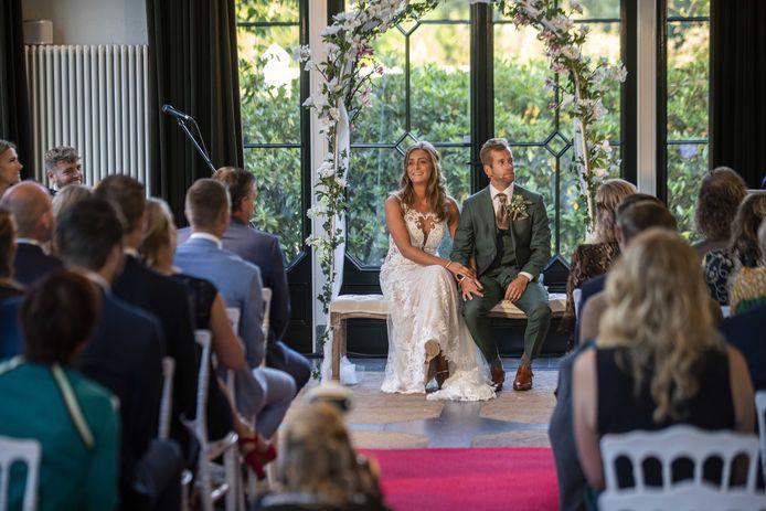 Een voorbeeld van een bruiloft voor corona, dus zonder beperkingen.