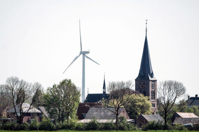 Een windturbine bij Netterden. Archieffoto Jan van den Brink